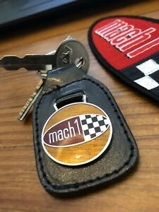 1969 1970 Mach 1 Ford Mustang Keychain Fob And Patch Vintage Nos