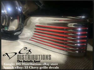 1953 Chevy Bel Air 210 150 Sedan Delivery Grille Grill Decals