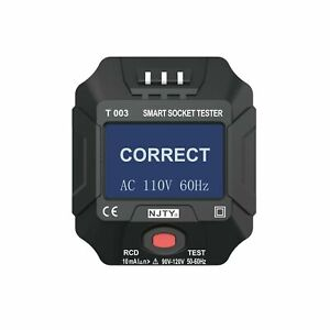Smart Receptacle Tester voltage Frequency Digital Lcd Display High Quality