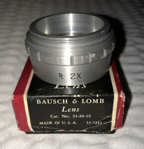 2x Bausch And Lomb Microscope Auxiliary Objective Barlow Lens