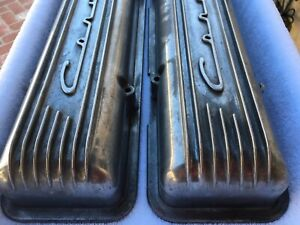 Chevrolet Corvette Small Block Staggered Valve Covers Used Very Good Condition
