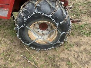 Wheel Horse Tire Chains 26x12 12 With Cleats And Tensioners John Deere Kubota Bx