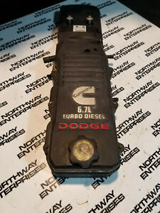 Dodge Ram 6 7l Cummins Used Upper And Lower Valve Cover Assembly 4944083 Re132