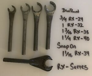 Snap On Blue Point Vintage Flare Nut Wrench Rx Set In Good Shape 5pc