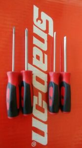 Snap On Tools 4pc Instinct Soft Grip Mini Combination Screwdriver Set Sgdx40br