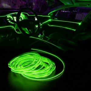 2m Green Led Car Interior Decorative Atmosphere Wire Strip Light Lamp For Toyota