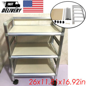 3 Tiers Rolling Trolley Cart Utility Cart Mobile Storage Organizer Kitchen Spa