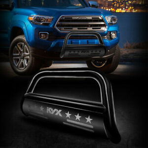 Front Bumper Grille Guard For 2016 2020 2021 Toyota Tacoma Black Bull Bar