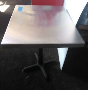 Used Stainless Steel Work Table 24 X 30 X 35 Adjustable Feet No Shipping