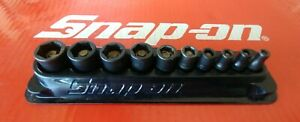 Snap On Tools 1 4 Drive 10 Pc Shallow 6 Pt Magnetic Socket Set W Tray 110mgmm