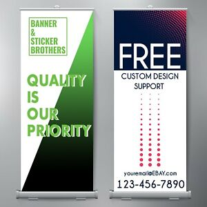 33 x79 Retractable Banner With Stand Free Design Included