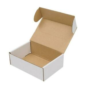 50x Corrugated Paper Boxes 6x4x2 Mailing Packing Shipping Box White Outside