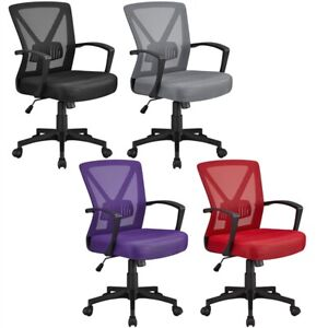 Mesh Office Chairs Executive Chair Adjustable Back Support Task Chair Desk Chair