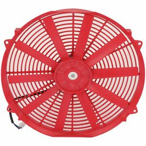 Electric Radiator Condenser Cooling Fan Assembly 16 Inch Universal 12v Red