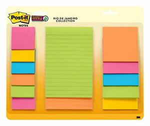 Post it Super Sticky Notes Assorted Sizes 13 Pads 2x The Sticking Power Rio D