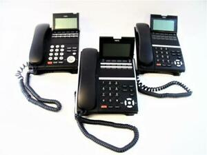 Nec Dt400 12 Button Digital Display Phone Dtz 12d 3 Black W Stand Lot Of 3