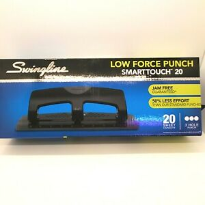 Swingline Smarttouch 20 3 Hole Punch 20 Sheet Capacity