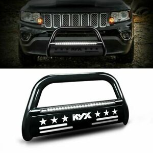 For 05 15 Toyota Tacoma Bull Bar Brush Push Front Bumper 3 Grill Guard W Light