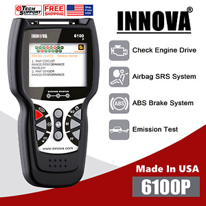 Innova 6100p Abs Srs Obd2 Diagnostic Scanner Battery Test Oil Reset Code Reader