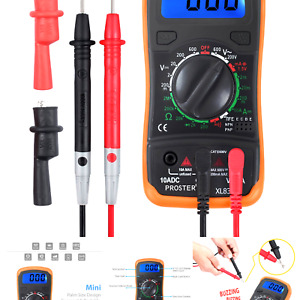 Proster Digital Multimeter With Backlight Lcd Display For Ac Dc Voltage Dc