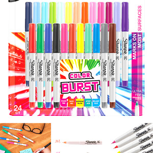 Sharpie 1949558 Color Burst Permanent Markers Ultra Fine Point Assorted Col