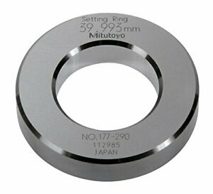 Mitutoyo 177 290 Setting Ring 40mm Size 15mm Outside Diameter 1 5micrometer