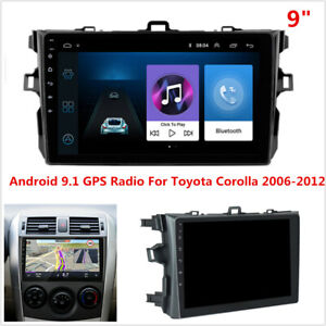 9 Android 9 1 Car Stereo Radio Gps Wifi 4g Bt Dab For Toyota Corolla 2006 2012