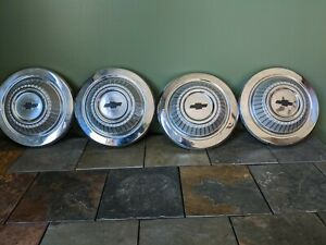 1967 1968 Chevy Truck Hubcaps Original Set Of 4