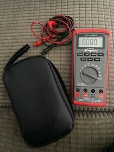Snap On Multimeter Auto Ranging Diagnostic Level Tool Electrician Eedm504d