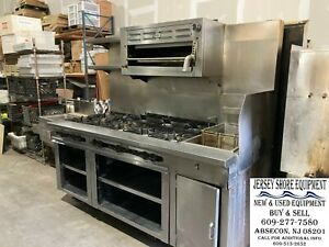 Commercial Wolf 10 Burner Range W 36 Salamander Pasta Cooker Natural Gas
