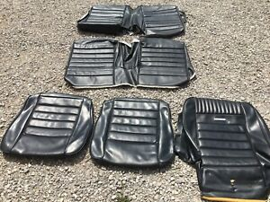 Used Distinctive Ind 1965 1966 Ford Mustang Coupe Pony Black Seat Upholstery