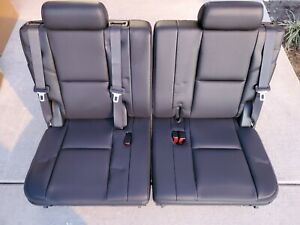 07 14 Tahoe Suburban Escalade Yukon Xl 3rd Row Seats Black Leather Third Seat