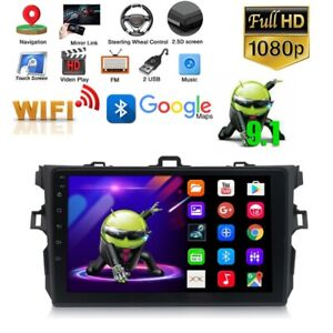 For Toyota Corolla 2006 2012 Gps Navigation Android 9 1 Car Stereo Radio W Wifi