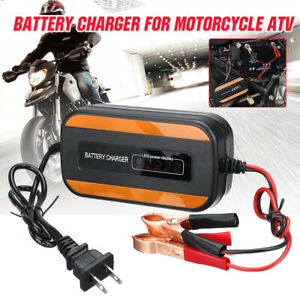 12v Car Motorcycle Atv Portable Battery Charger Maintainer Agm Jump Starter