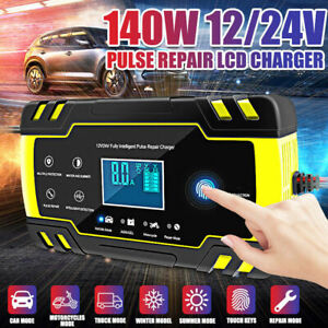 Car Battery Charger 12v 24v 6 150ah Motorcycle Pulse Repair Type Agm Charger Us