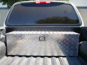 Truck Bed Trailer Underbody Aluminum Tool Box Tote Storage Black Pickup Rv 30