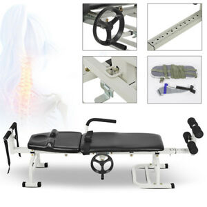 Lumbar Stretch 1 65 Meters Traction Bed Therapy Massage Table For Cervical Spine