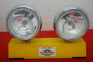 7 Round Replica Cibie Oscar Driving Spot Lights Pair Rally Classic Clear