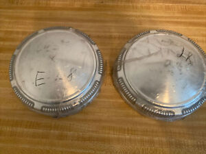 Dodge Plymouth Dog Dish Hubcaps Oem Mopar 3461450 69 74 New Old Stock Set 2