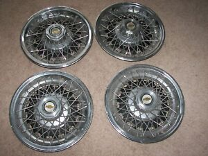 vintage 15 Chevy Caprice Spoke Wire Wheel Covers Hubcaps original Set