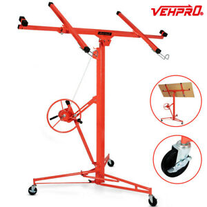 11ft Drywall Panel Lift Hoist Dry Wall Rolling Caster Lifter Construction Jack