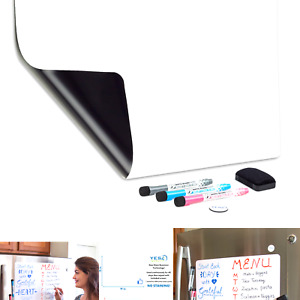 Magnetic Dry Erase Whiteboard Sheet For Fridge 19x13 In With Stain Resistan