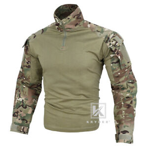 KRYDEX G3 Combat Shirt Army Uniform with Elbow Pads Tops Camo Multicam Airsoft $39.95