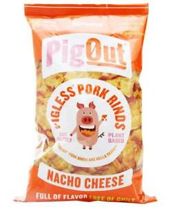 Outstanding Foods Pigout Pigless Pork Rinds Nacho Cheese 3 5 Oz