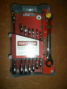 New Craftsman 8 Piece Metric Dual Ratcheting Wrench Set 14756 8mm 19mm