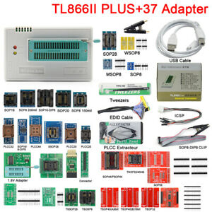 Newest Tl866ii Plus High Speed Universal Programmer adapters test Clip Pic Bios