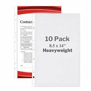 Legal Size Sheet Protector 8 5x14 Legal Paper 10 Pack Heavyweight