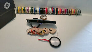 Dymo 1570 Chrome Label Maker Tapewriter 2 Wheels 47 Tape Rolls With Case read