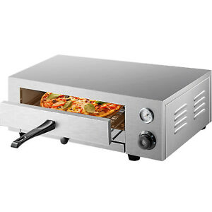 Vevor Electric Pizza Oven Countertop Pizza Oven 16 pizza Baker Stainless Steel