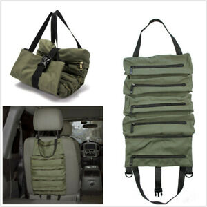 Roll Tool Bag Wrench Roll Pouch Hanging Carrier Zipper Organizer Multi Purpose